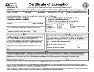 WA State Exemptions – Informed Choice Washington