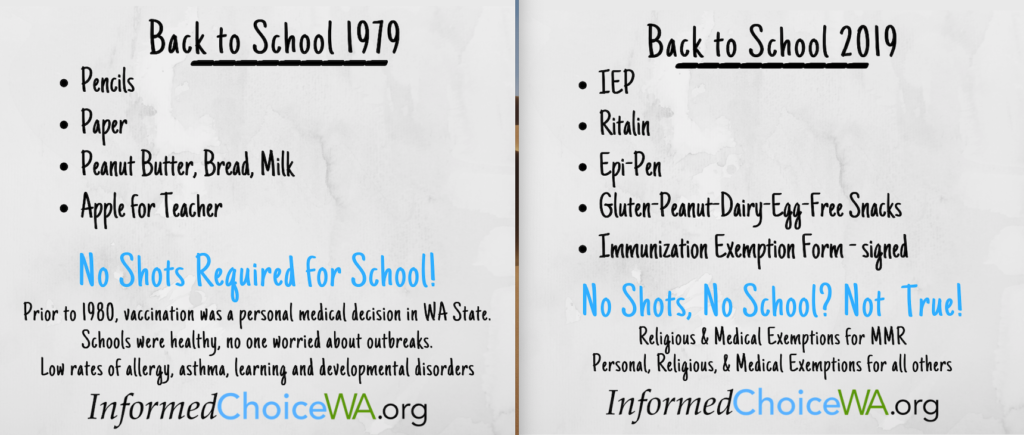 No Shots, No School? Not true!