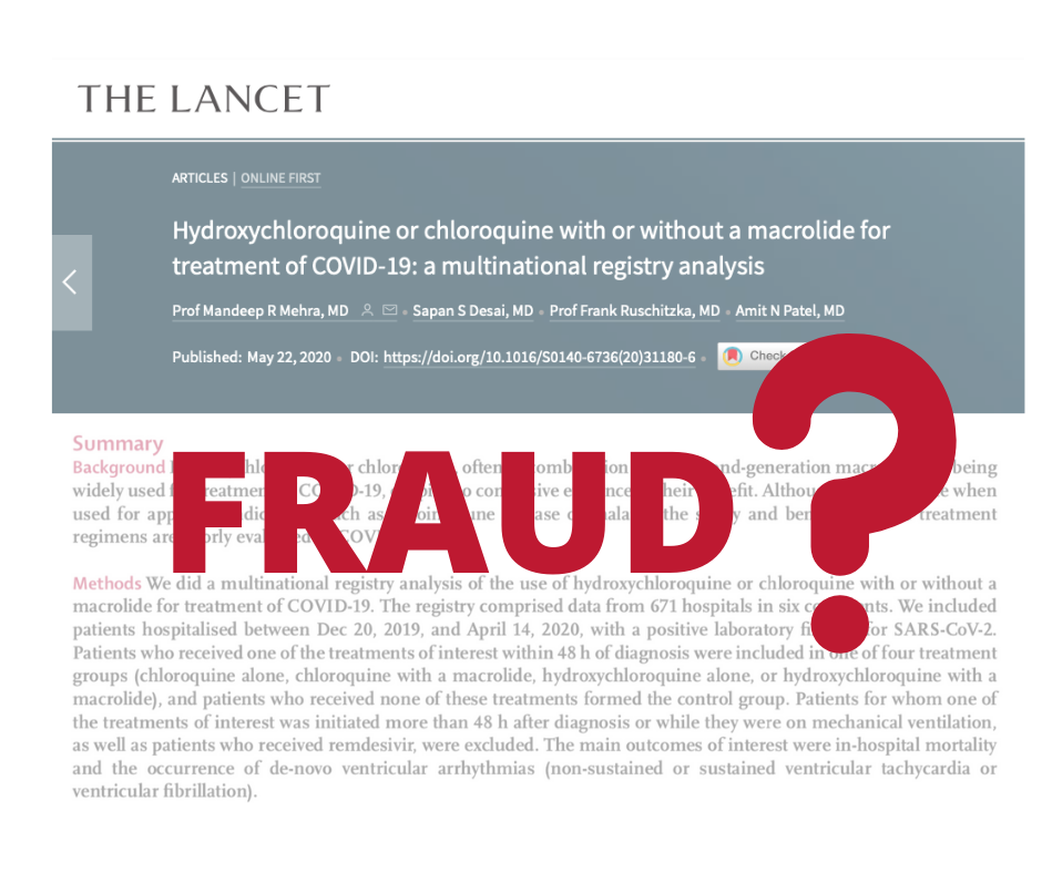 Fraud suspected: Scientists and Doctors critical of Lancet article on hydroxychloroquine