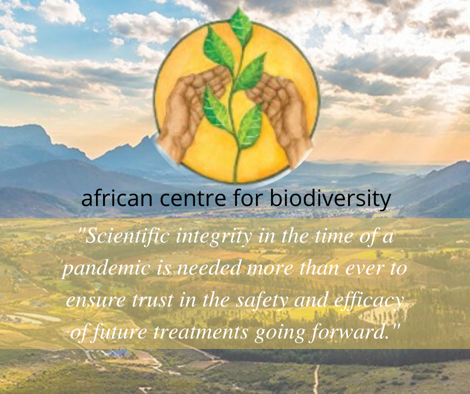 African Centre for Biodiversity raises concerns on GM Covid-19 vaccine trials